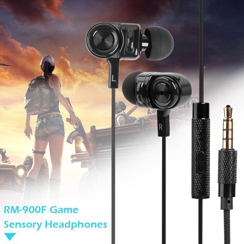 Remax en la oreja juegos de auriculares en movimiento-bobina de vibración auriculares 3D sonido Gaming sentidos auricular teléfono móvil en auriculares de música