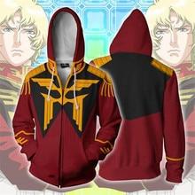 GUNDAM Anime capuche Cosplay Char Aznable Costume sweat veste manteaux hommes et femmes