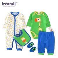 high quality clothing sets for newborns romperbody suitpantbibshoes long sleeve character baby sets for infant girl boy