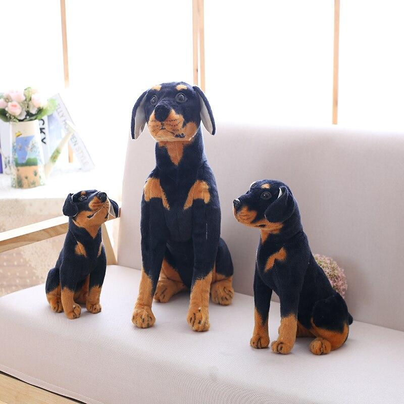 Lifelike Simulation Black Dog Plush Toy Plush Stuffed Animal Dog Cute Puppy Dog Children Gift at Home Decoration Husky Dachshund