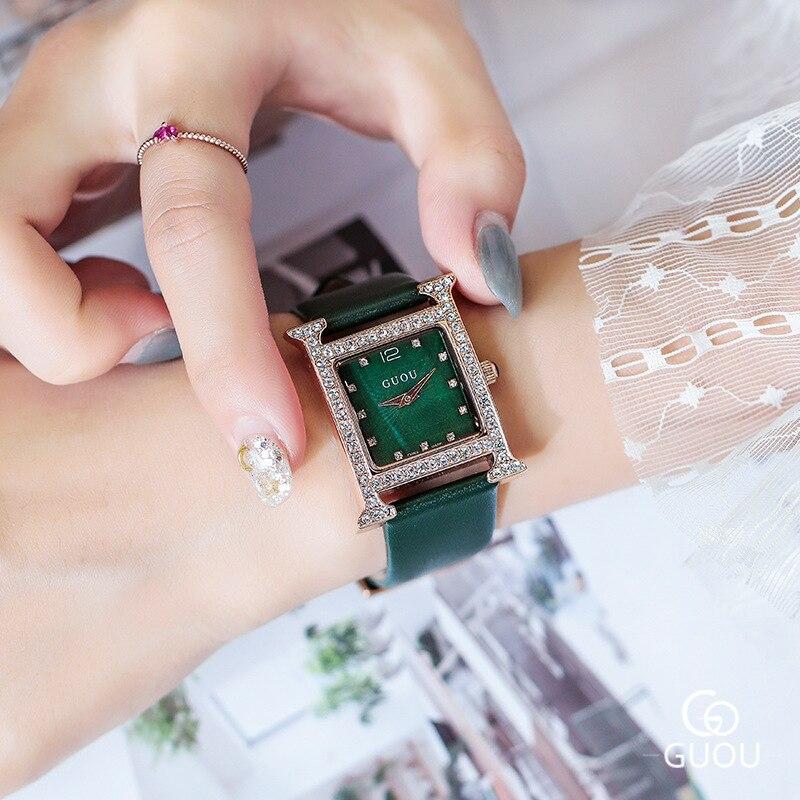 New 2019 Rhinestone Crystal Quartz Women Watches Women Diamond Square Dress Watch Luxury Ladies Watch Clock relogio feminino enlarge