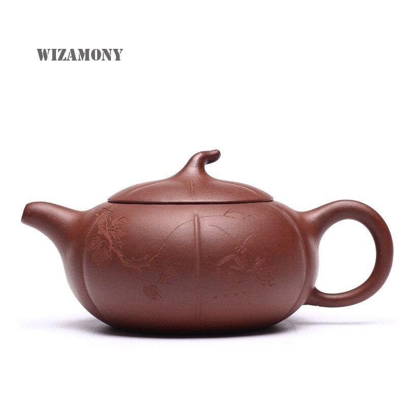 ¡Gran venta! juego de té de arcilla púrpura WIZAMONY Zisha Cerámica Arte pintura a mano shibian tetera porcelana yixing Arcilla China teaset taza de té