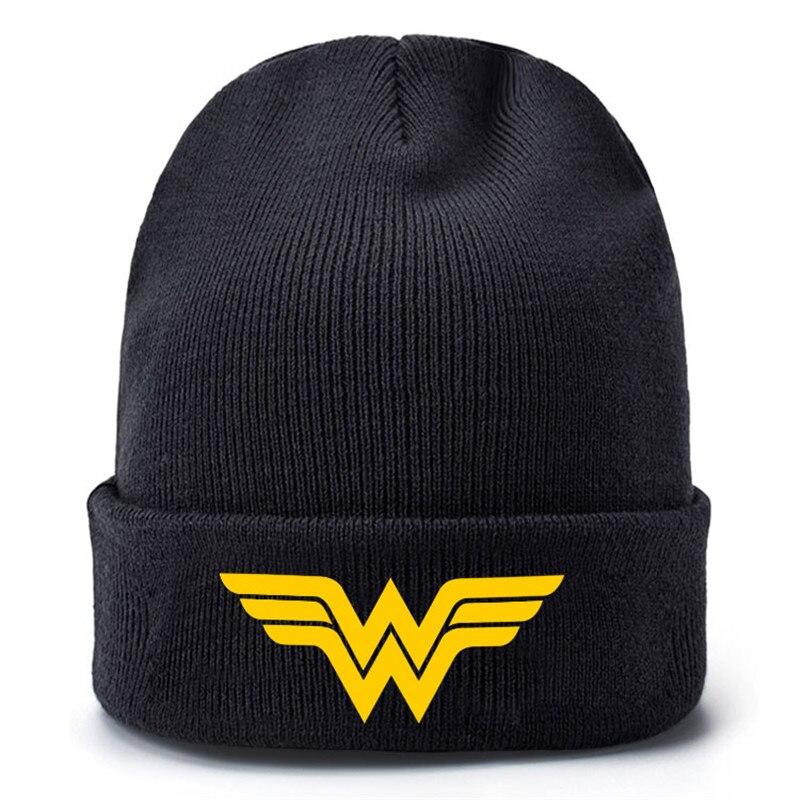 Super Manga Hero Comic Baseball Caps Knitted Winter Warm Hats Men Women Boys Girls Elastic Black
