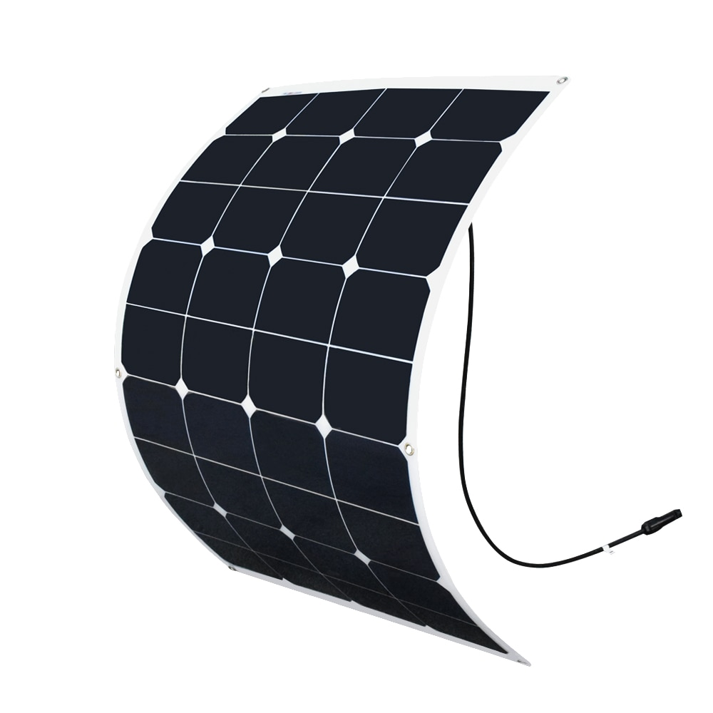 XINPUGUANG 75W 20V panel solar flexible placa solar en la parte posterior para coche 12V RV barco yate cargador de batería solar painel