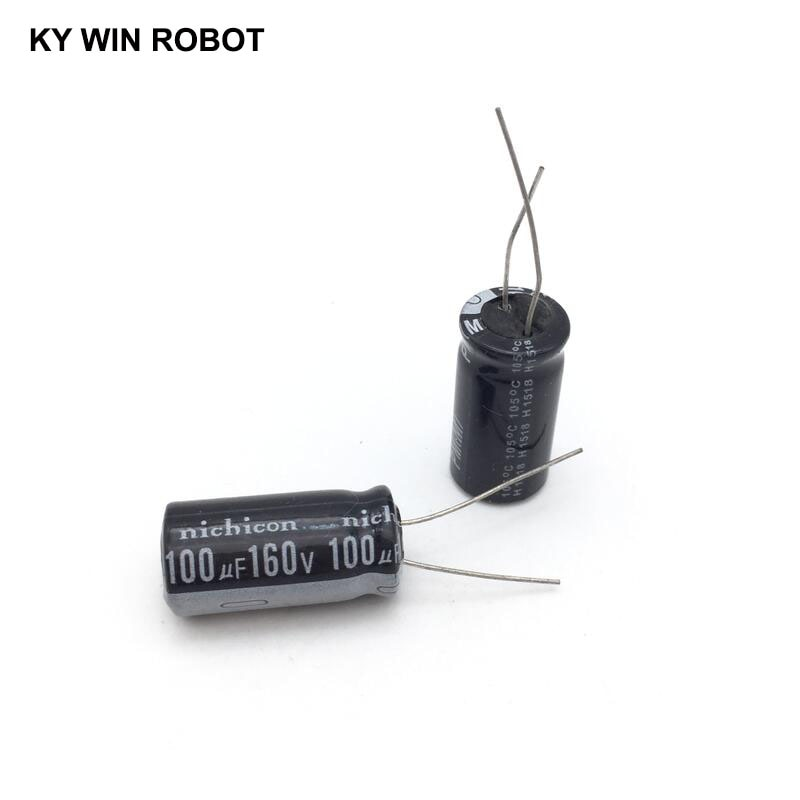 5 pcs Aluminum electrolytic capacitor 100 uF 160 V 13 * 20 mm frekuensi tinggi Radial Electrolytic kapasitor конденсатор duelund vsf 100 v 4 7 uf aluminium