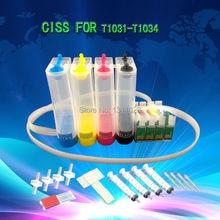 Tinta forma T1031-T1034 T1031 T1032 T1033 T1034 astillado CISS vacío para T40W TX600FW TX550W TX610