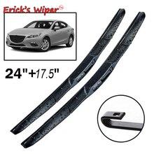 "Ericks Wiper Front Hybrid Wiper Blades For Mazda 3 Axela BM BN 2014 - 2018 2017 Windshield Windscreen Front Window 24""+17.5"""