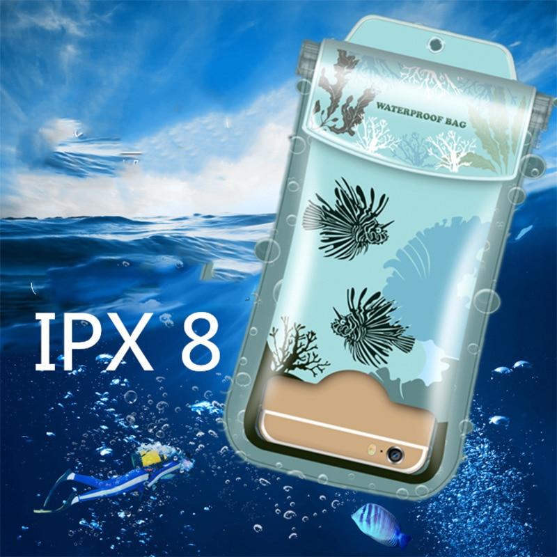 Универсальный прозрачный водонепроницаемый чехол для телефона сумка 6,4