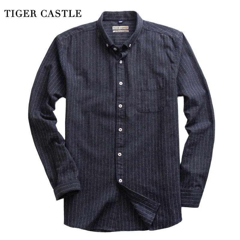 Fashion Sloid Striped Black Shirts Men High Quality Slim Fit Spring Dress Shirt Mens Long Sleevee Designer Camisa Masculina