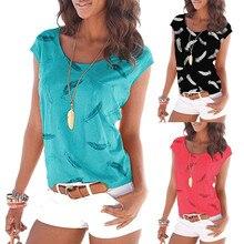 2019 Tshirt Women Summer Printing Short Sleeve Vest Casual Tunic T-shirt Tops Poleras Camiseta Mujer Harajuku T Shirt Camisas