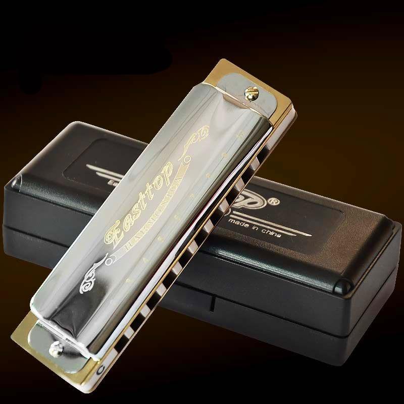 Armónica T008 Easttop10 agujero diatónico ABS peine Blues armónica Instrumento armónica C...