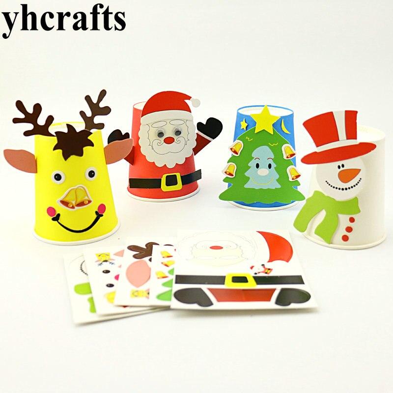 4 шт./лот, 4 дизайнерские Наборы для творчества в виде рождественской чашки, создайте свои собственные Ранние развивающие игрушки, наборы для...