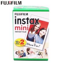 20 pièces/boîte fujifilm instax mini 8 9 film 20 feuilles pour appareil Photo instantané mini 7 s 25 50 s 90 papier Photo bord blanc film de 3 pouces de large