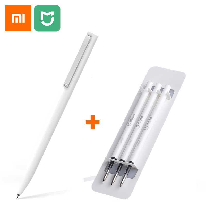 Original xiaomi mijia sinal canetas 9.5mm assinatura canetas premec suave suíça recarga mikuni japão tinta adicionar 0.5mm preto recarga