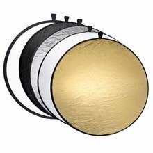 SUPON 80 см 5 в 1 отражатели портативные складные круглые камеры освещения фото дисковый отражатель bolso fotografico с переноской Cas