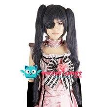 Peluca sintética negra Butler Ciel Phantomhive Edición Femenina 80cm peluca Cosplay