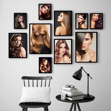 Haar Salon Dekorative Malerei Friseur Styling Wandbild Malerei Poster Moderne Haar Salon Färben Haar Wand Kunst Dekor HD2591