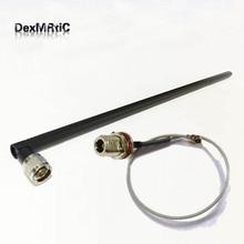 2.4 GHz 12dBi haut gain Omni WIFI antenne N mâle pour routeur sans fil 45 cm + N type femelle cloison interrupteur ufl/ipx RF câble