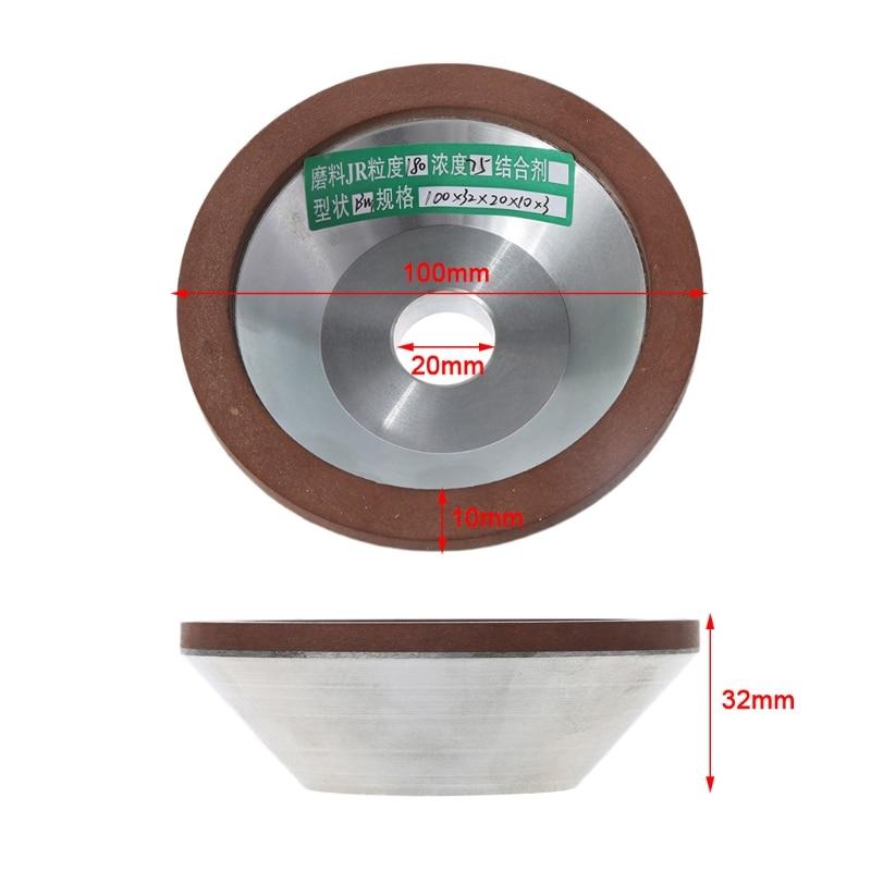 100mm Muela de Diamante Cup 180 Grit cortador amoladora para Metal carburo X7YD