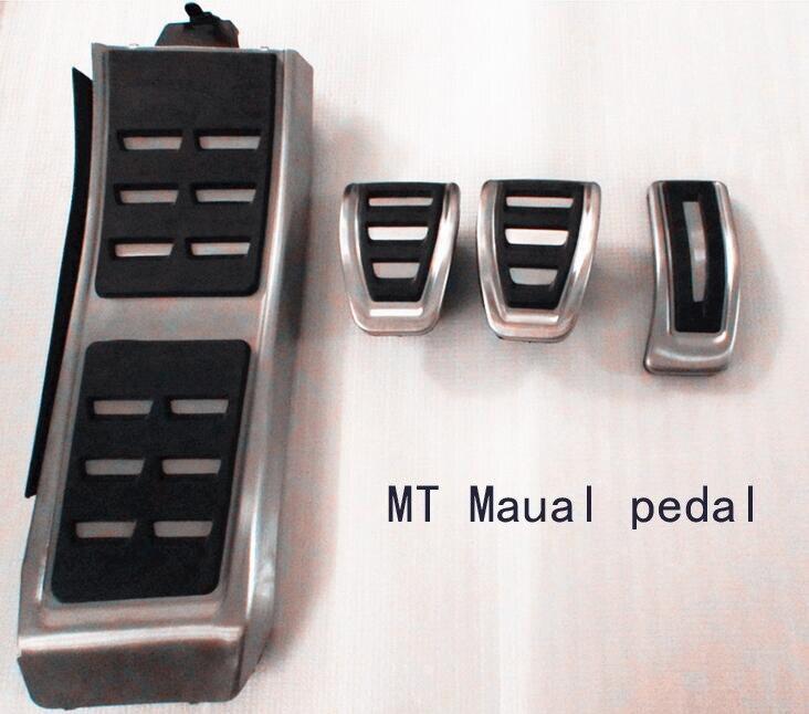rete Metal anti-skid car pedal gas Brake pad foot rest cover accelerator for Audi A4 A5 A6(13+) A7 Q5 MT Maual Wholesale