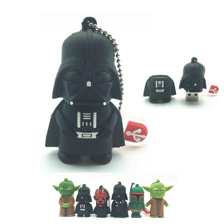 Más Vendidos usb flash drive estrella wars pen drive GB/4 GB/8 GB/16 GB/32 GB estrella guerra oscuro Darth Vader Yoda pendrive memoria stick u disco