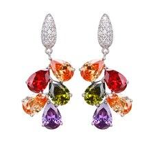 Hermosa bijoux boucles doreilles fête vacances Design brillant femmes parfait cadeau coloré mode