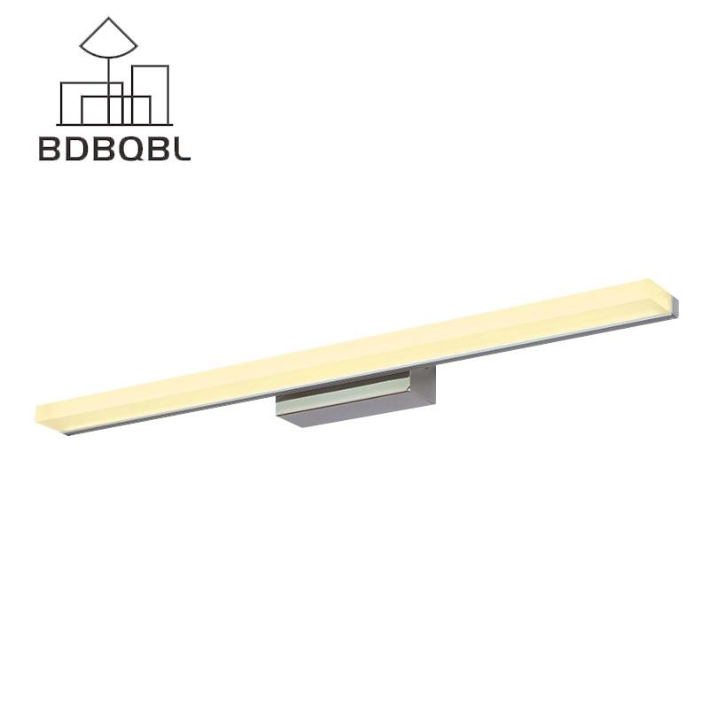 BDBQBL lámparas Led de espejo de pared de acero inoxidable instalación de pared lámpara rectangular moderna iluminación de pared para el vestíbulo del baño