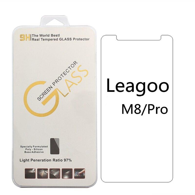 Para Leagoo M8 pro M9 M9 pro Leagoo M5 plus M5 9 H 2.5D Alta Qualidade da Borda de Vidro Temperado Protetor filme com Suporte Do Telefone de presente