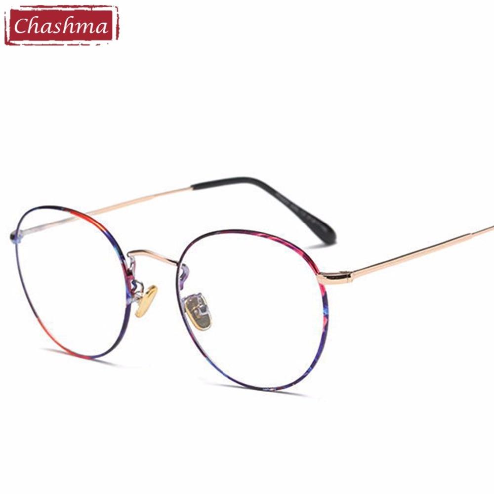Women Retro Eyewear Prescription Alloy Glasses Frames Vintage Glasses Round Eyeglasses for Male