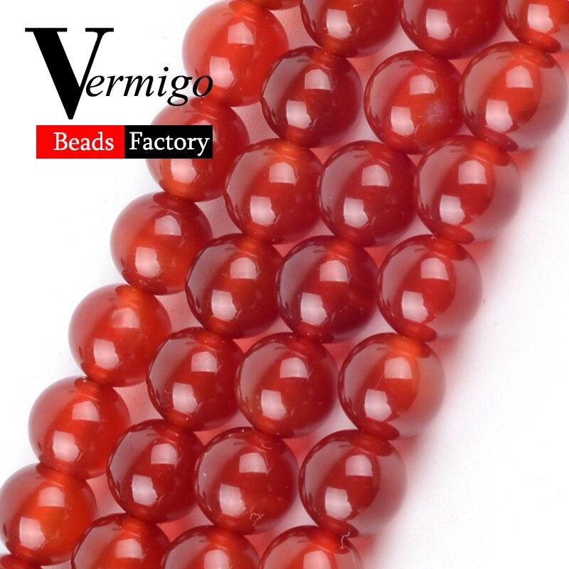 Doğal Kırmızı Akik Oniks Taş Yuvarlak Boncuk Takı Yapımı Için 4 6 8 10 12mm Carnelian Taş dağınık boncuklar Diy mücevherat bilezik