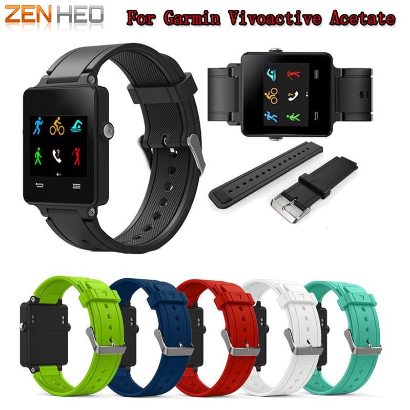 ZENHEO Watch Band New Fashion Sports Silicone Bracelet Strap Band For Garmin Vivoactive Acetate Smart WatchBand Accessories 2018