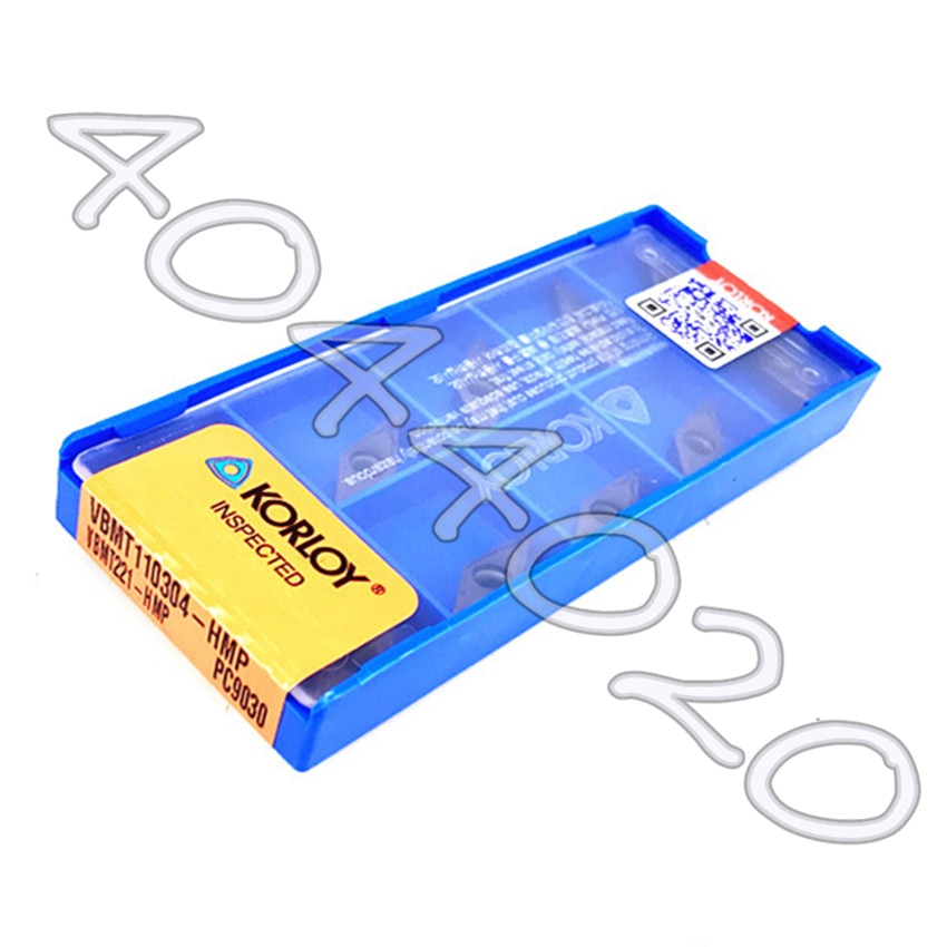 VBMT110304-HMP PC9030 VBMT221-HMP PC9030 10 قطعة/صندوق KORLOY شفرة من الكربيد