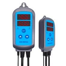 Inkbird IHC-200 contrôleur dhumidité de scène durale numérique pré-câblé, contrôle dhumidification de déshumidification pour humidificateur et ventilateur