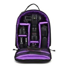 Plecak na aparat fotograficzny torba Case dla Nikon D3400 D3200 D3100 D7200 D5300 D5200 D5100 D7100 D810 Canon 750D 1300D 77D 5D III IV II