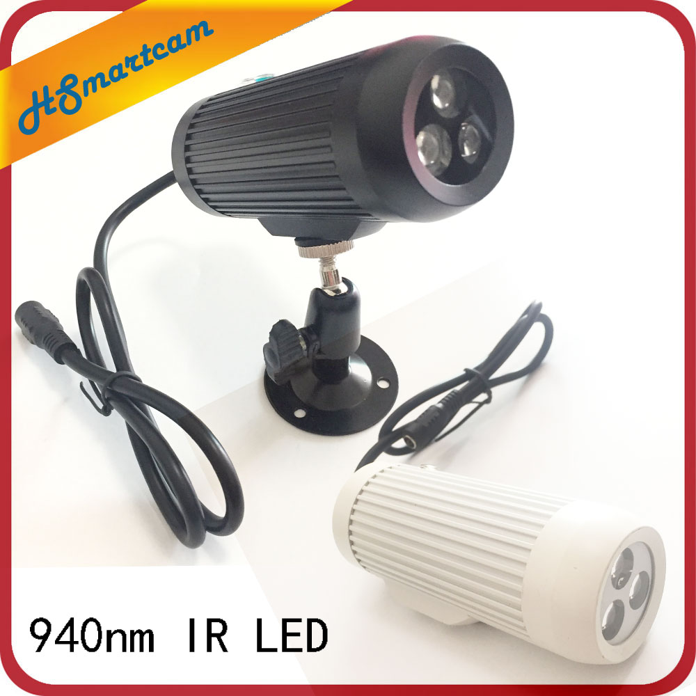 CCTV 940nm 3pcs IR LED Surveillance Cameras night-vision Fill light  940nm Invisible Day Night IR Array Illuminator Lighting