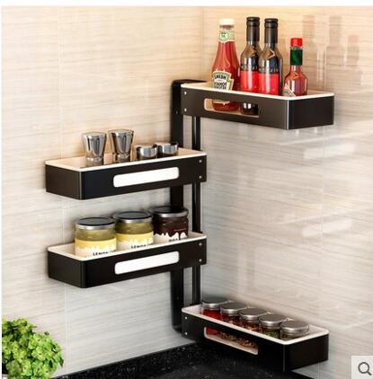 Kitchen shelves. Rack of rotators. Multi-functional storage shelves..