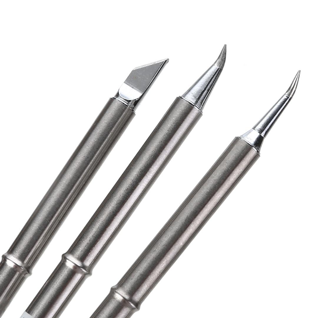 Duarble t12 pontas do ferro de solda de prata estação ponta alça de solda substituir para hakko