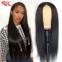 Perruque Lace Front Wig lisse brésilienne naturelle Remy-RXY   13x6, pre-plucked, cheveux humains, 13x4, pour femmes africaines