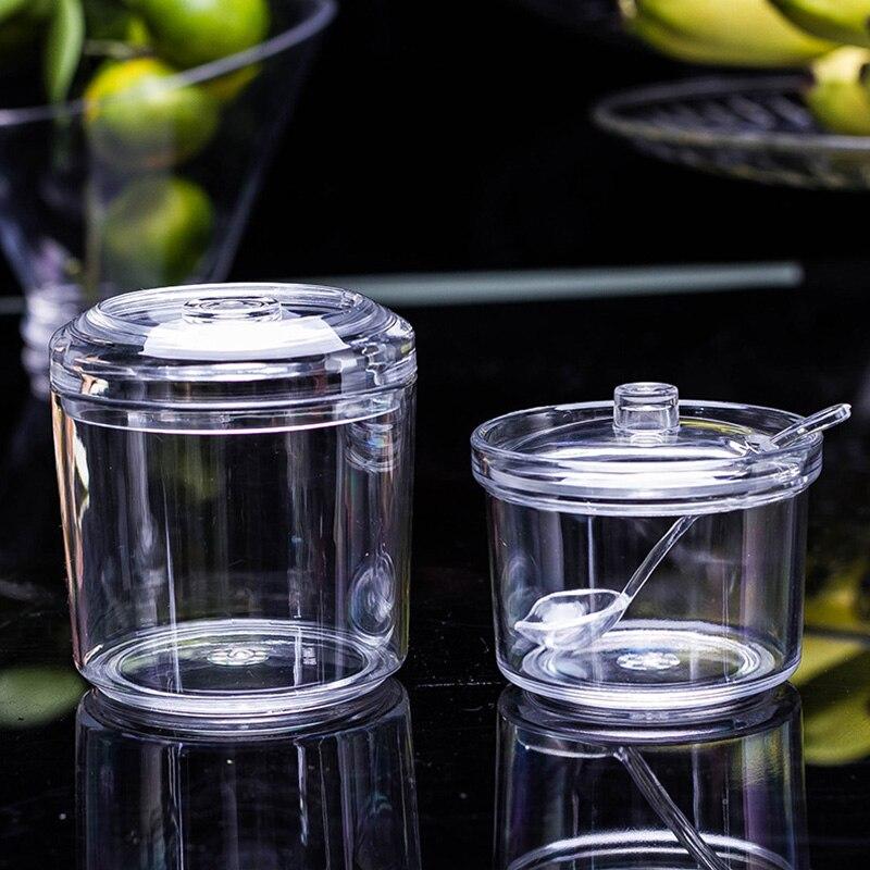Caixa de Tempero Jar Tempero Açucareiro Acrílico Caixa Shaker Sal Pimenta Herb & Spice Ferramentas Transparente Condimento Garrafa Tempero Latas