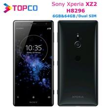 "Sony Xperia XZ2 H8296 Original débloqué 4G Android téléphone portable Octa Core double SIM 5.7 ""19MP RAM 6GB ROM 64GB NFC Fingersprint"