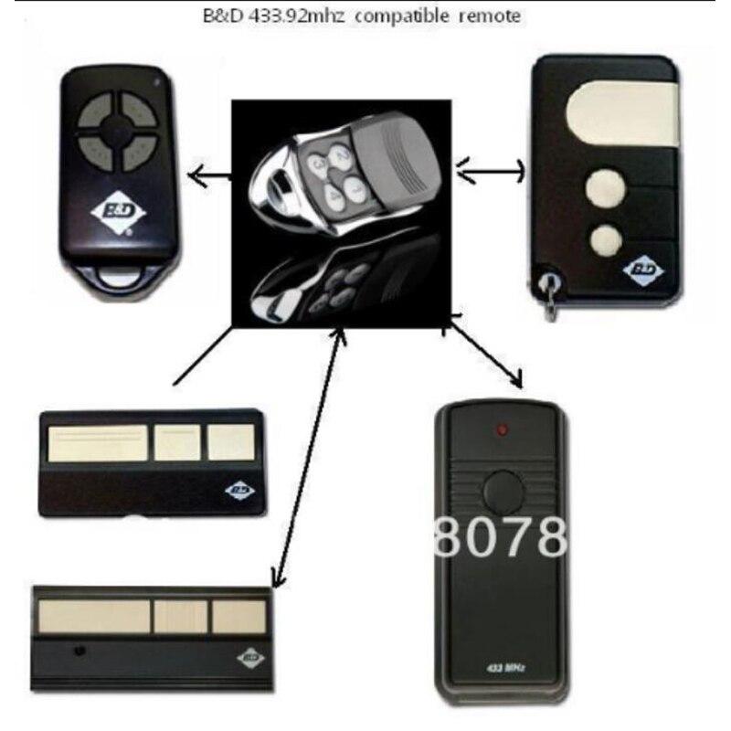 5 piezas caja clásica BND/CHAMBERLAIN/easylift rodillo de puerta de garaje apertura con control remoto-BND 433Mhz envío gratis
