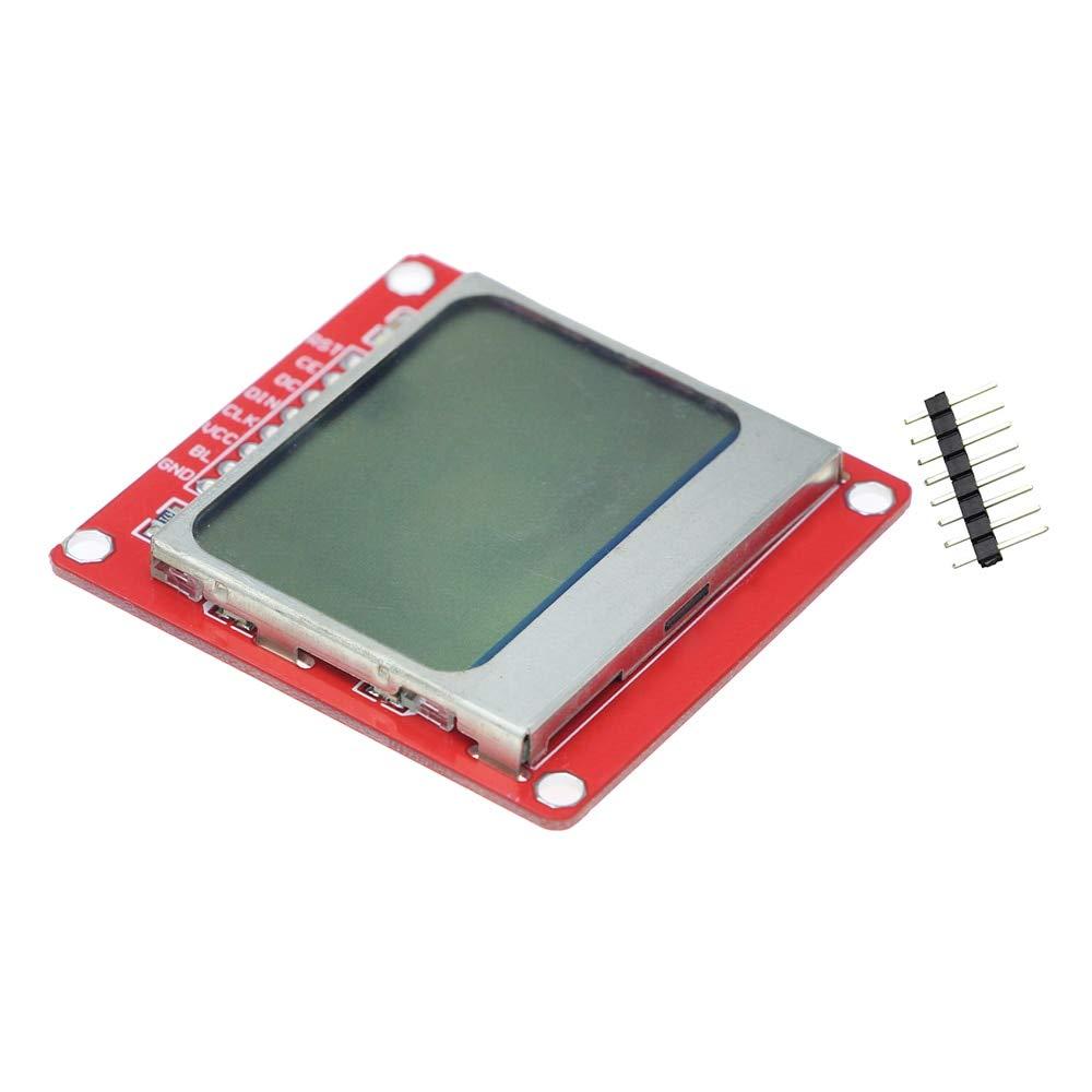 Électronique intelligente 84*48 84x84 Module d'affichage LCD moniteur blanc rétro-éclairage adaptateur PCB Nokia 5110 écran pour Arduino