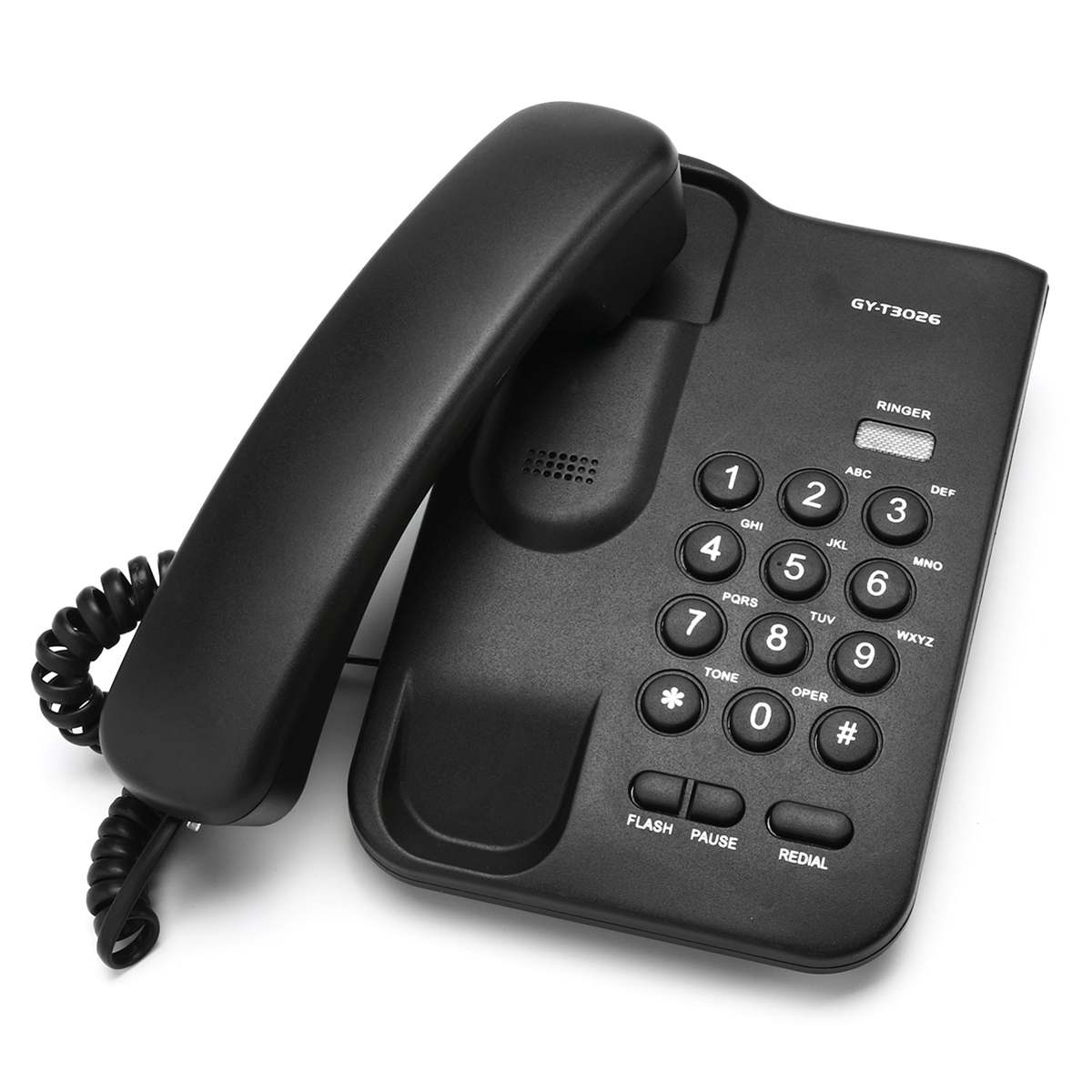White Black Desktop Home Wall Mount Office Corded Phone Telephone Home Hotel Wired Landline Telephone 12*19*7.5cm
