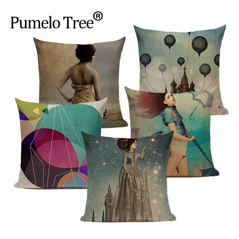 Винтажные Декоративные Чехлы для диванов в стиле «Океан», наволочки для диванов высокого качества на заказ, чехлы для диванов для гостиной