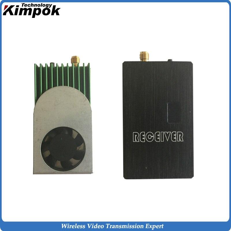 5,8G FPV enlace de vídeo 1200mW transmisor y receptor inalámbrico, 5,8 Ghz transmisor de vídeo de largo alcance para transmisión inalámbrica UGV/UAV