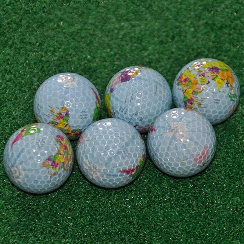 Pelotas de Golf patrón de mapa de globo de práctica de regalo transparente colorido niños juguetes para mascotas masaje Golf