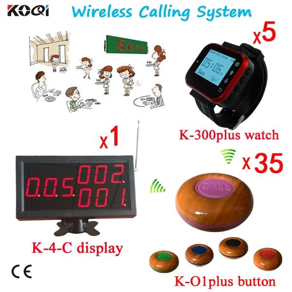 Remote Customer Calling To Waiter System Service Calling Button Restaurant Wireless Buzzer