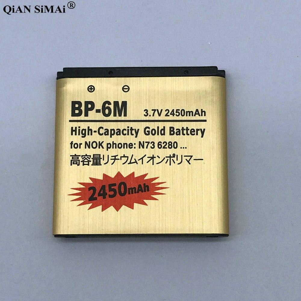 Nuevo BP-6M Batería de oro para Nokia N73 N77 N93 N93S 3250, 6151, 6233, 6234, 6280, 6288, 6290 9300I 9300 BP6M BP 6M