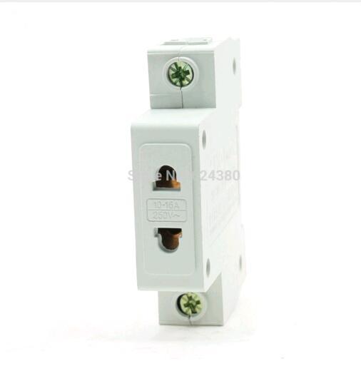 Модульная розетка переменного тока, 1 шт., 1 шт., AC30, 1 P, 1 столб, штепсельная вилка US, EU, 2 Pin, 35 мм, на din-рейку, 10-16 А, 250 в перем. Тока