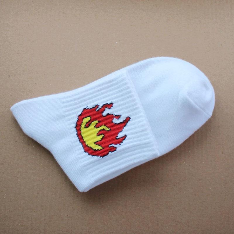 Casual Harajuku Low Cut Socks Women Character Sock For Men Cactus Fire Print Lovers Short Socks Calcetines